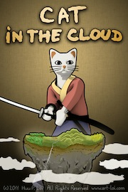 iPhone Game Cat in the Cloud Artwork